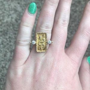 Serpent Snake Ring Gold